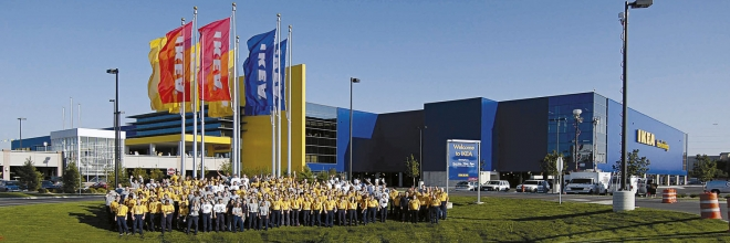 Eines der unzähligen Einrichtungshäuser von IKEA